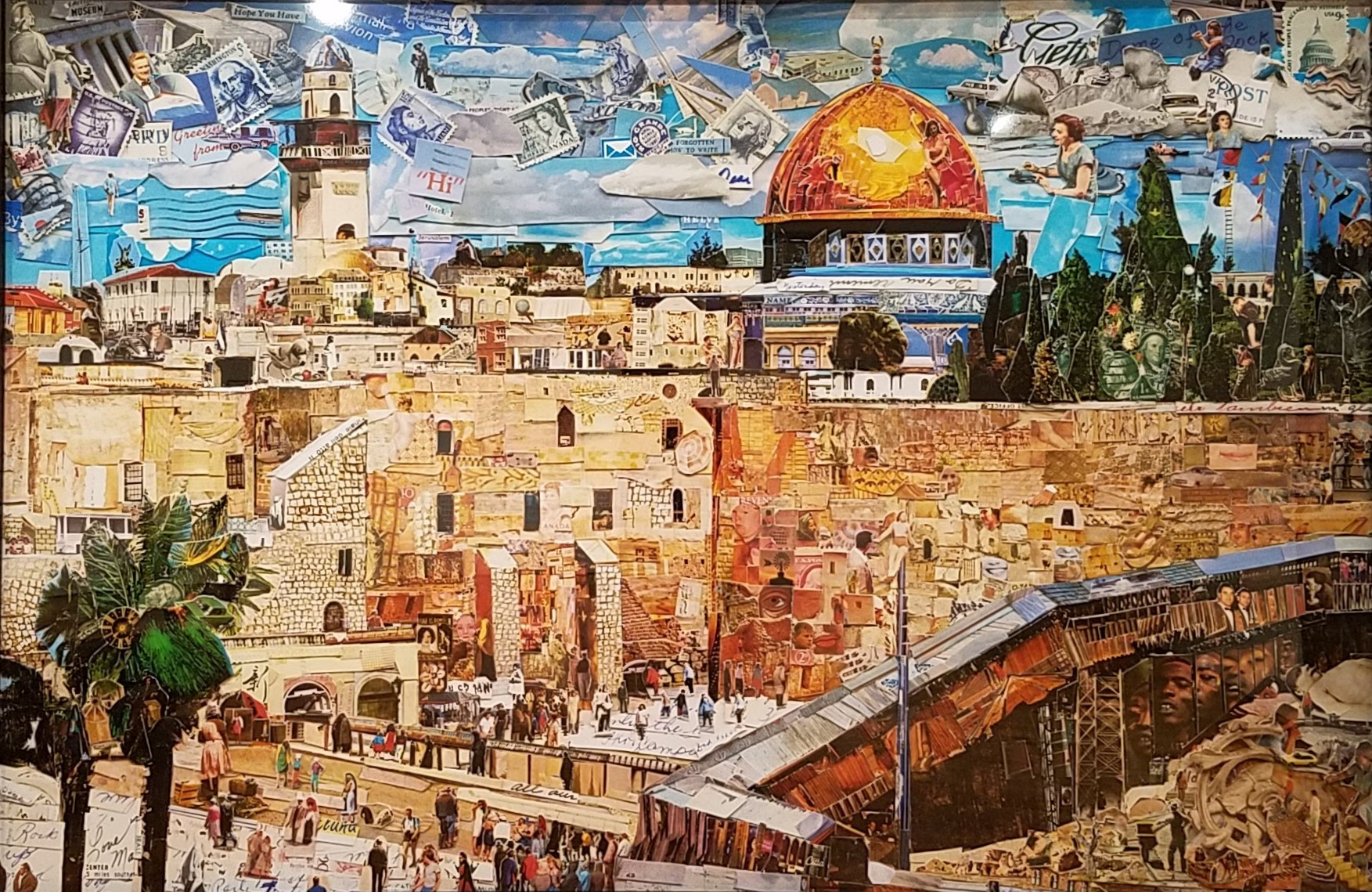 Vik Muniz. Jerusalem, from Postcards From Nowhere, 2014