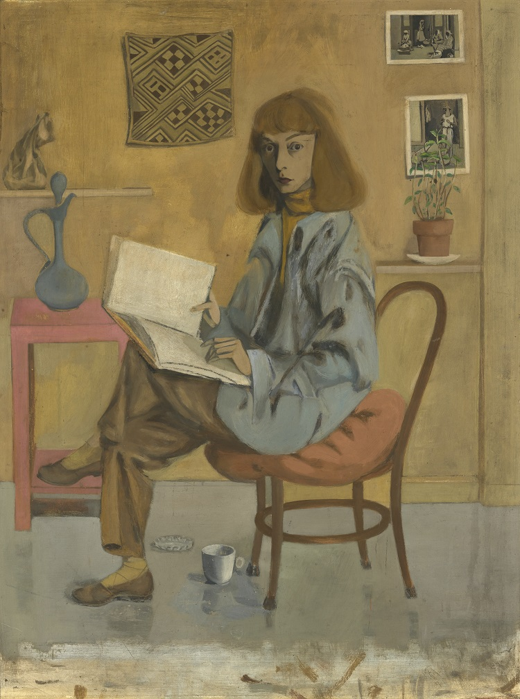 Elaine de Kooning Self-Portrait. Oil on Masonite (1946). National Portrait Gallery, Smithsonian Institution