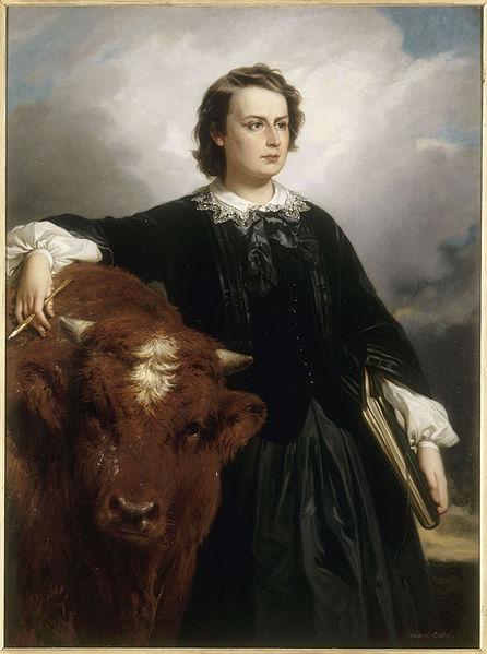 Édouard Dubufe (French, 1819-1883) Portrait de Marie-Rosalie dite Rosa Bonheur, 1857.